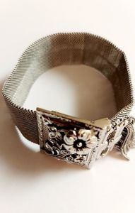 Vintage Jewelry - Vintage whiting & davis chain mesh silver bracelet